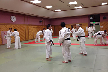 柔道の練習風景