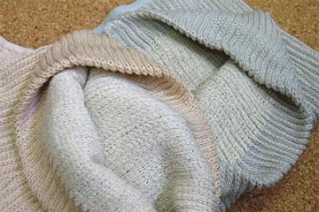 ナカイニット「綿と絹のはらまき」
