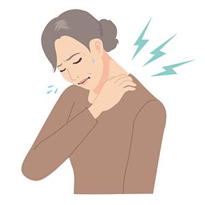 肩が痛い中年女性