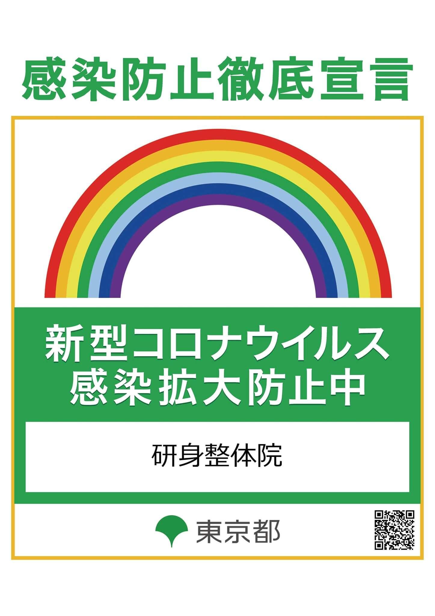 東京都感染拡大防止チェックシートのステッカー